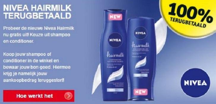 nivea hairmilk shampoo conditioner