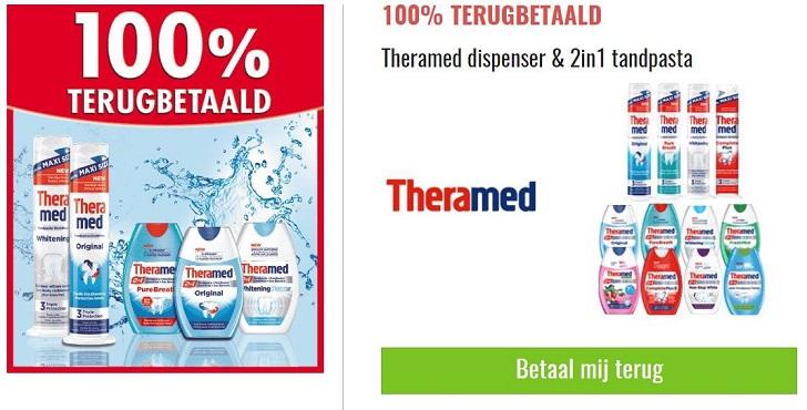 Theramed 2 in 1 tandpasta of dispenser