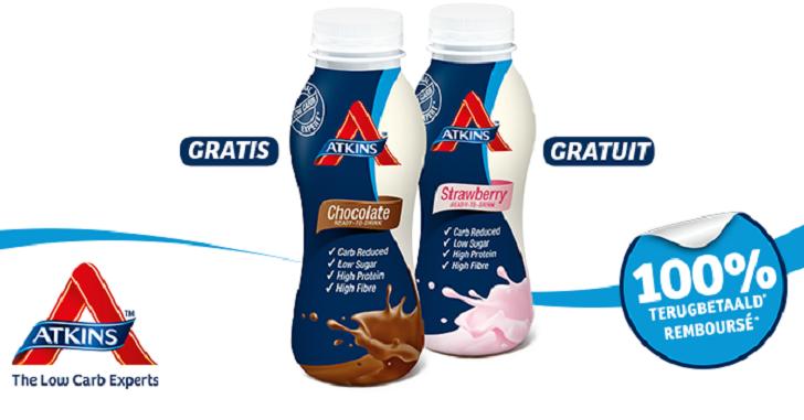 Atkins dieetdrink (chocolade of aardbei)